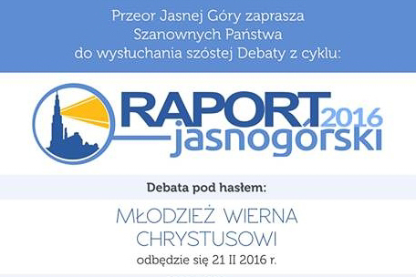 """VI debata Jasnogórska """"Młodzież wierna Chrystusowi"""""""