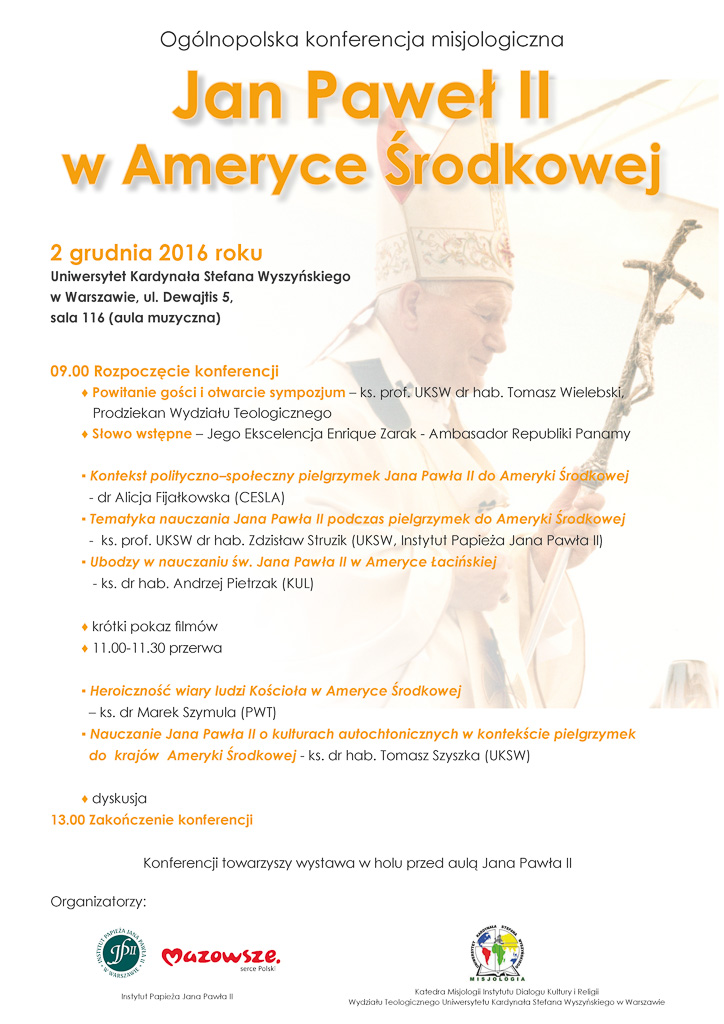 """Konferencja """"Jan Paweł II wAmeryce Środkowej"""""""