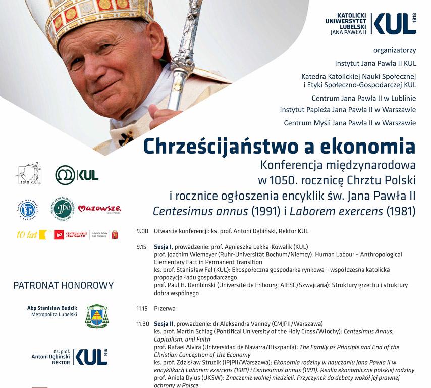 """Międzynarodowa konferencja naukowa """"Chrześcijaństwo aekonomia"""""""