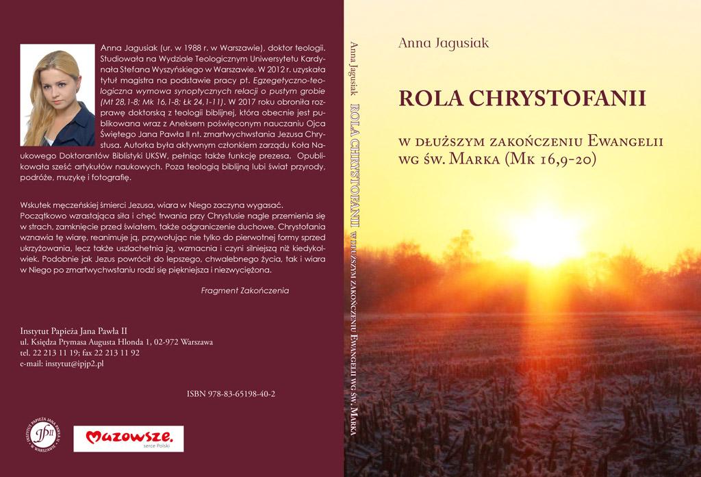Nowość wydawnicza: Rola chrystofanii wDłuższym Zakończeniu Ewangelii wgśw.Marka