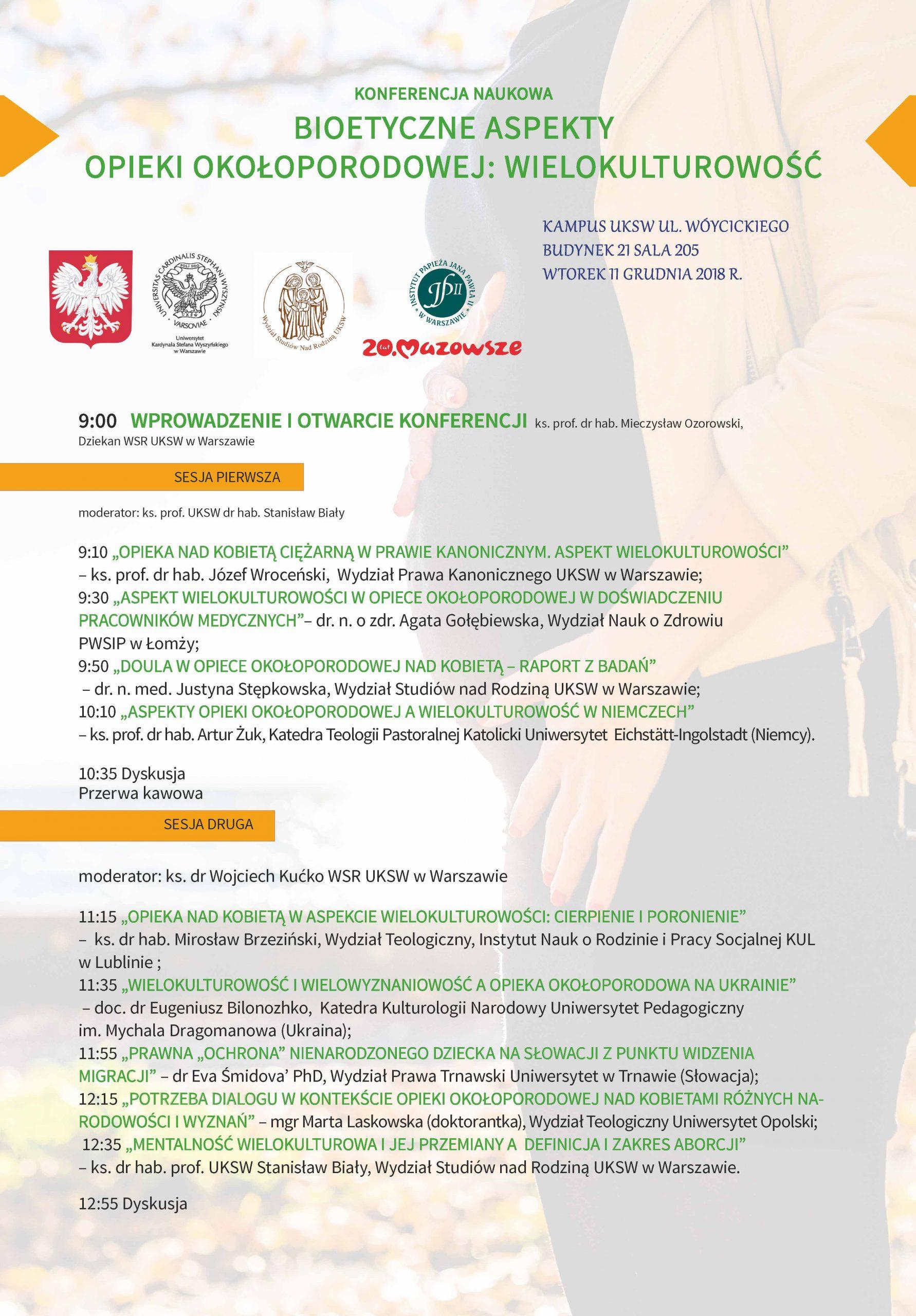 """Zapowiedź: Konferencja Naukowa """"Bioetyczne aspekty opieki okołoporodowej: wielokulturowość"""""""