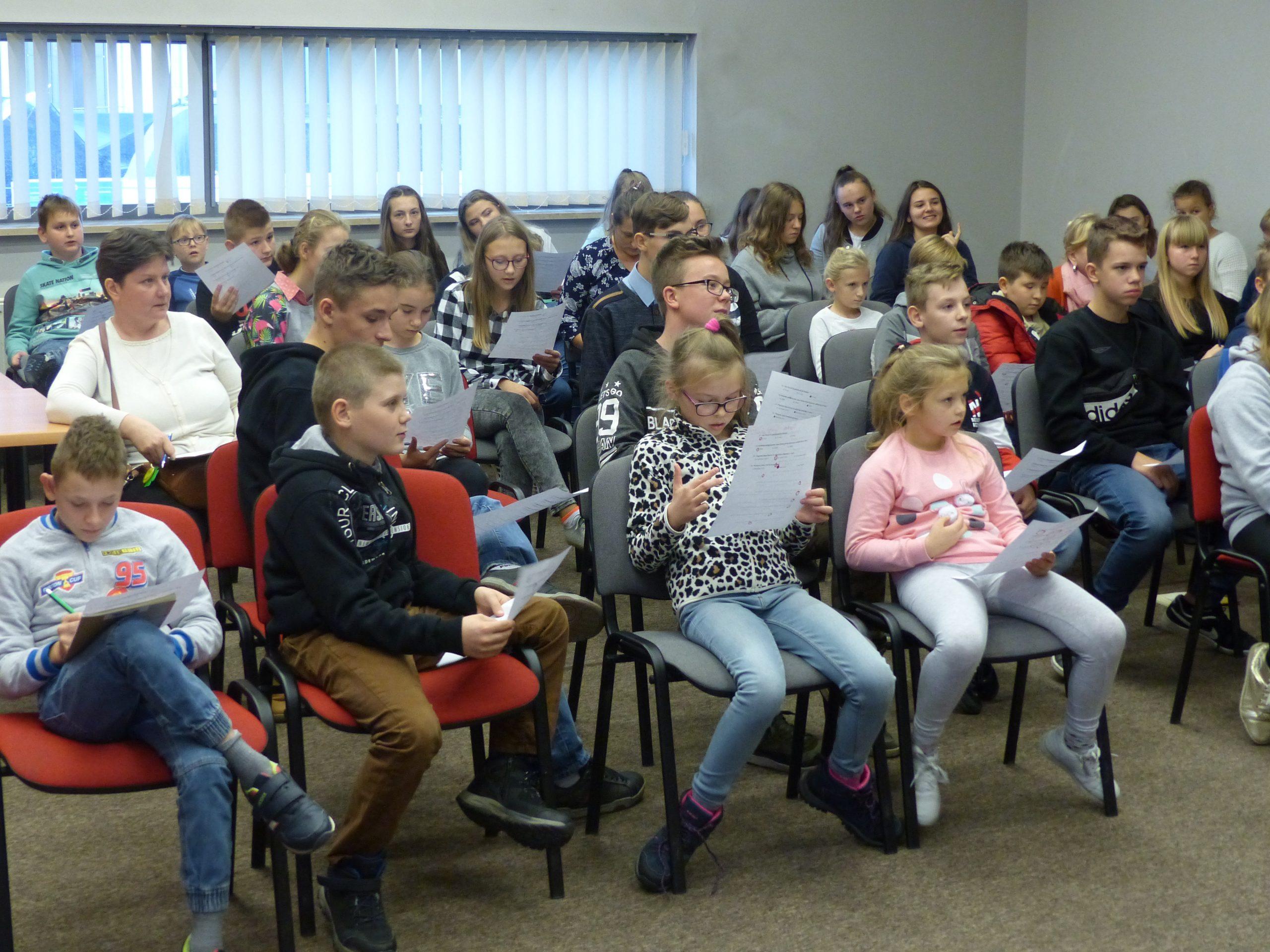 Wizyta uczniów zeSzkoły Podstawowej wNapiwodzie