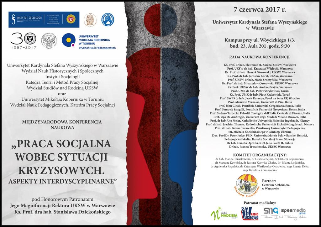 """Międzynarodowa konferencja naukowa: """"Praca socjalna wobec sytuacji kryzysowych. Aspekty interdyscyplinarne"""""""