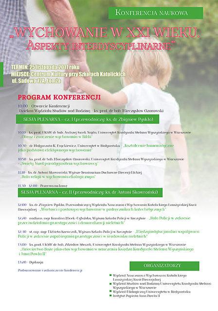 """Konferencja międzynarodowa """"Wsparcie rozwoju iwychowania dziecka wrodzinie"""""""
