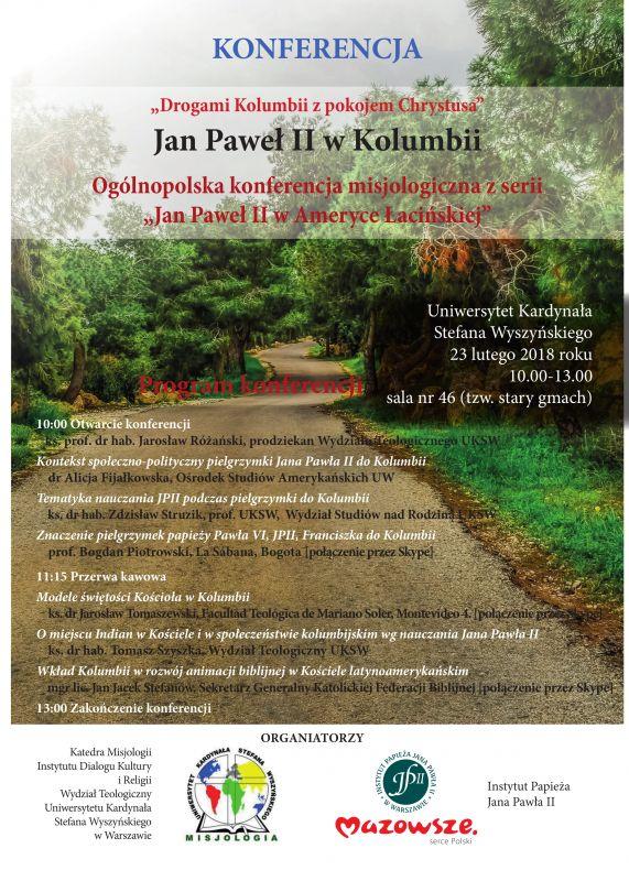 """Konferencja naukowa """"Jan Paweł II wKolumbii"""""""