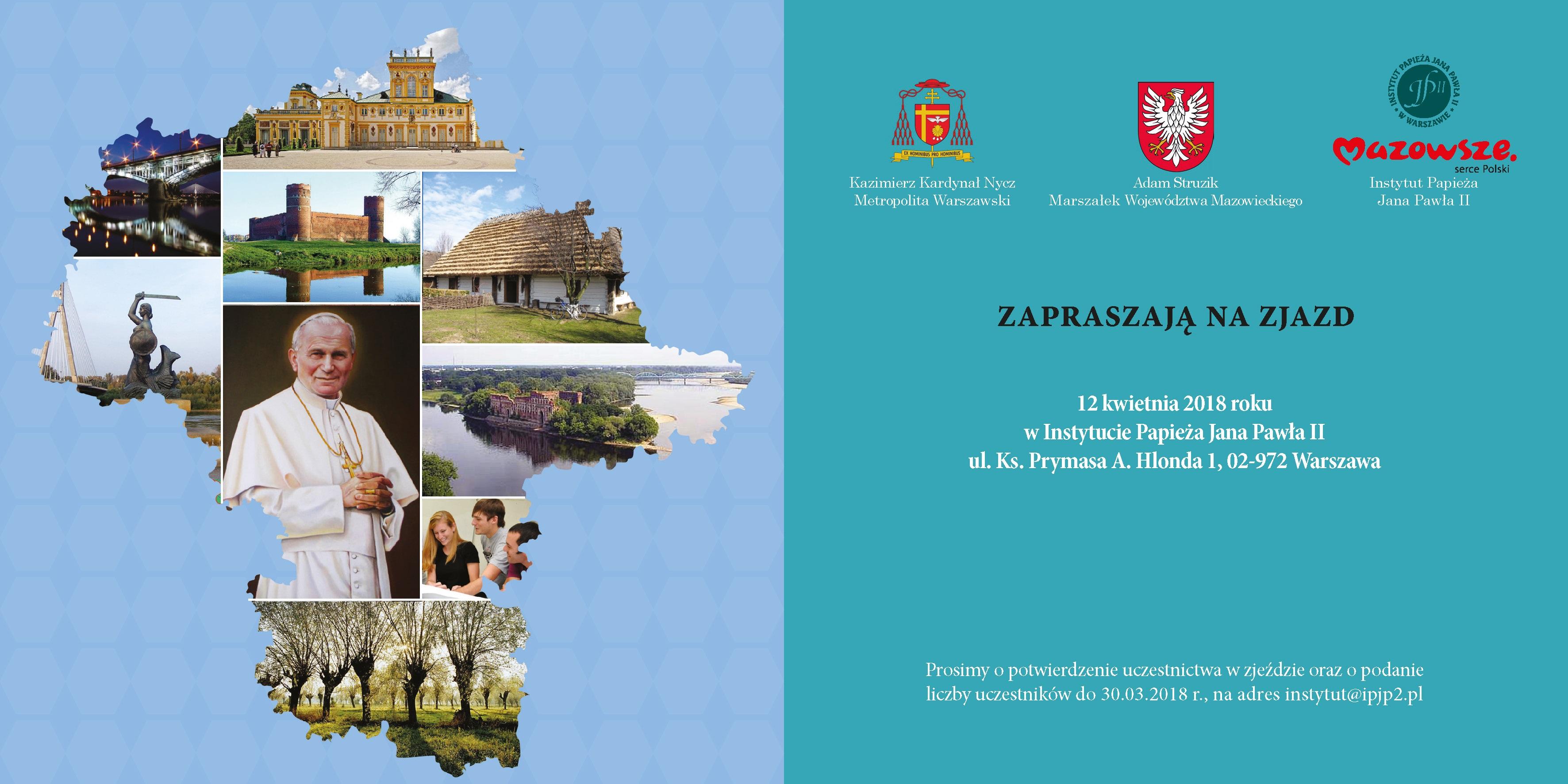 IMazowiecki Zjazd Szkół im.Papieża Jana Pawła II – Zaproszenie