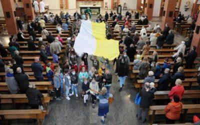 Gra miejska oJanie Pawle II wParafii pw.Zesłania Ducha Świętego wWarszawie naBielanach