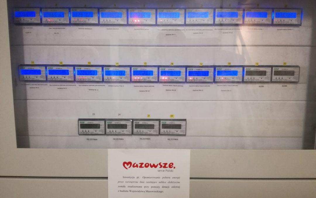 Zakończenie zadania: Opomiarowanie poboru energii przezwewnętrzne linie zasilające tablice elektryczne