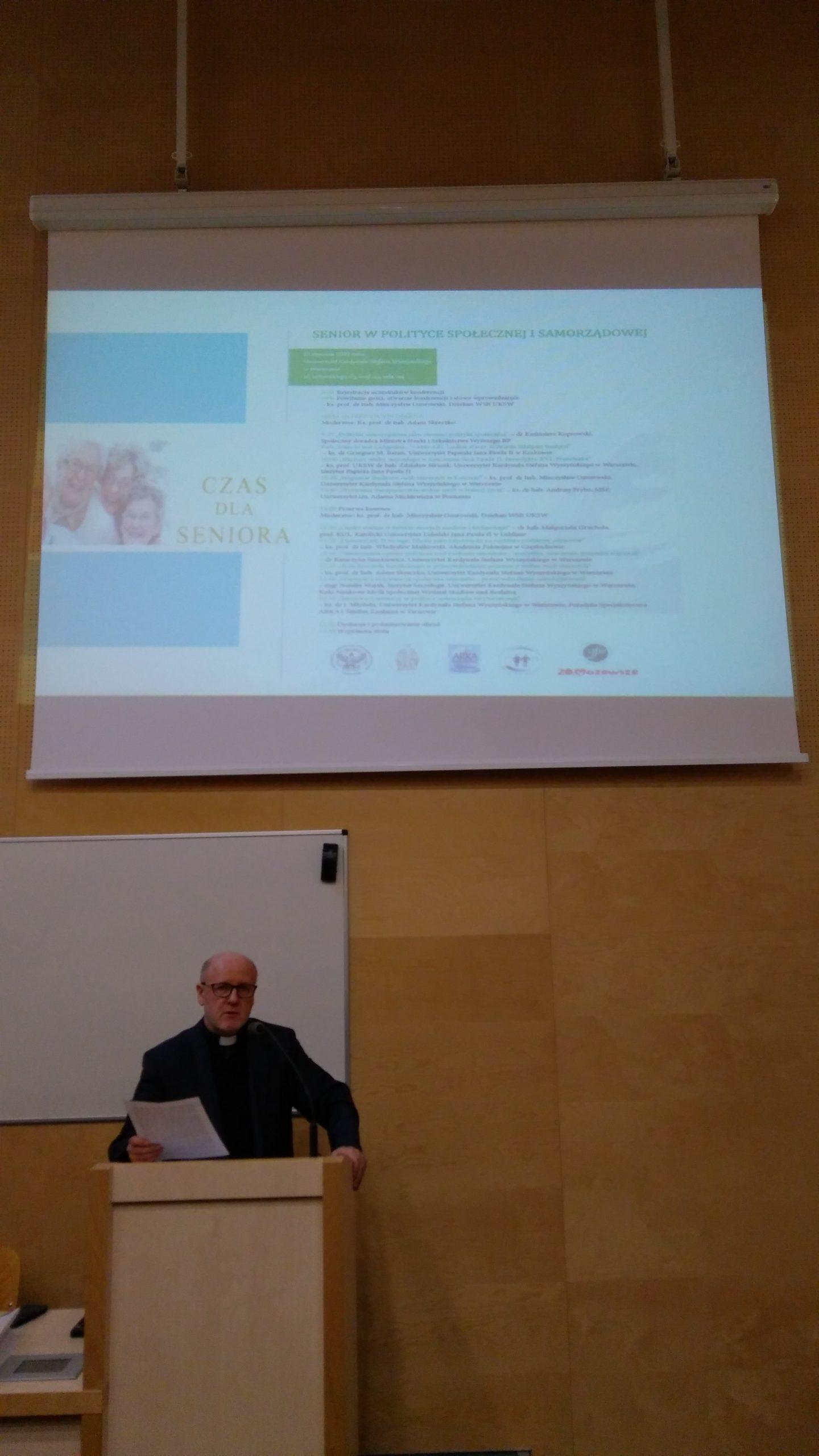 """Ogólnopolska konferencja naukowa """"Senior wpolityce społecznej isamorządowej"""""""