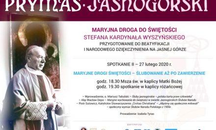 II spotkanie przedbeatyfikacją Prymasa Wyszyńskiego – MARYJNA DROGA DOŚWIĘTOŚCI